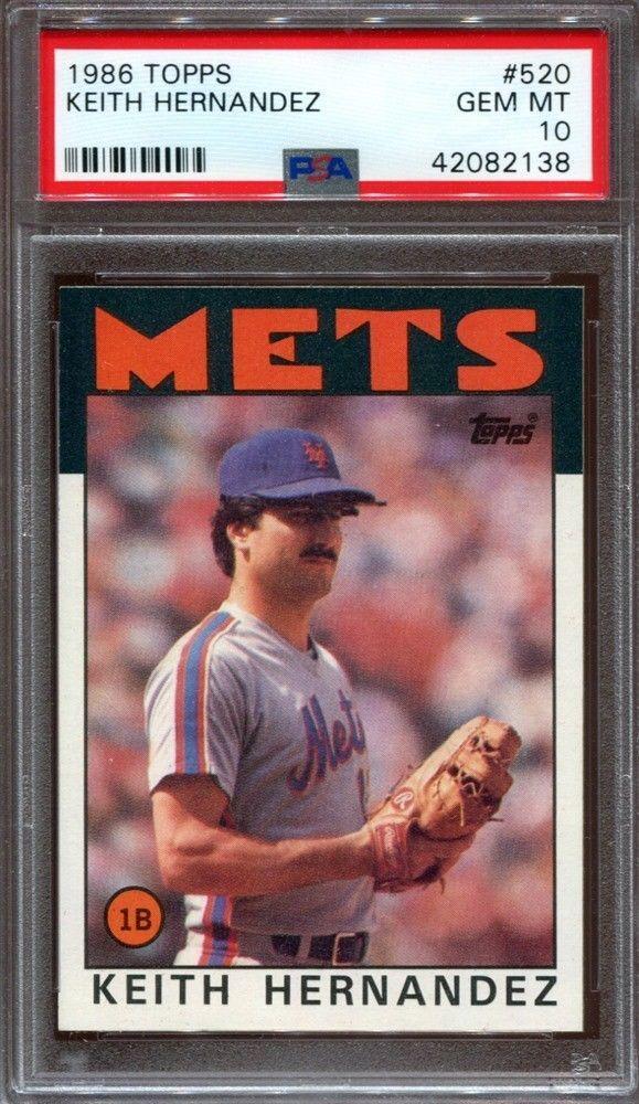 1986 Topps Baseball 520 Keith Hernandez New York Mets Psa