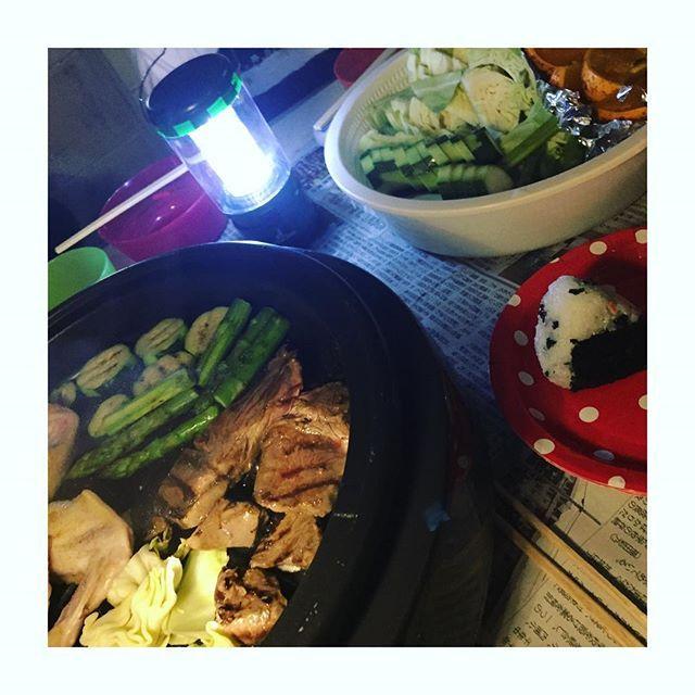 #BBQ #焼肉 #極狭庭にて #まったり時間 #楽しかった #夕ご飯#ホットプレート#肉#おうちごはん #foodpic #kaumo