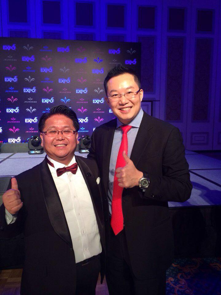 with My upline sponsor Samson Li...Jeunesse gpbal expo5 in macao  www.sponsor.so