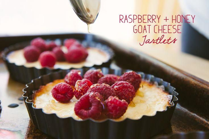 Raspberry & Honey Goat Cheese Tartlets