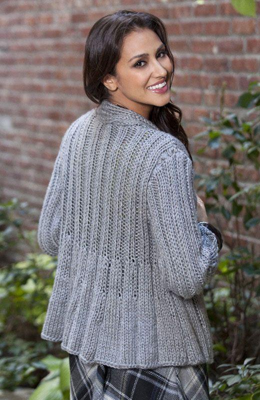 Caron Knitting Patterns : Caron International Free Project Swing Jacket CdebknitSWEATERS Pinterest