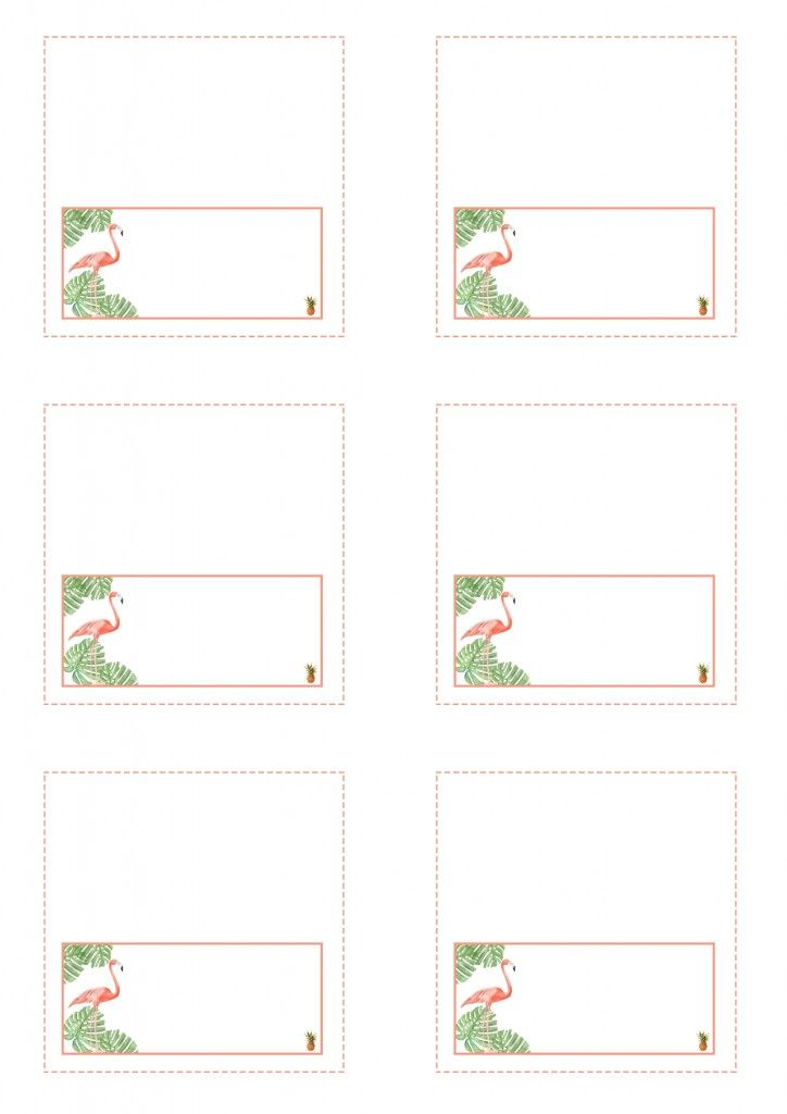 Tropical bachelorette party placement cards