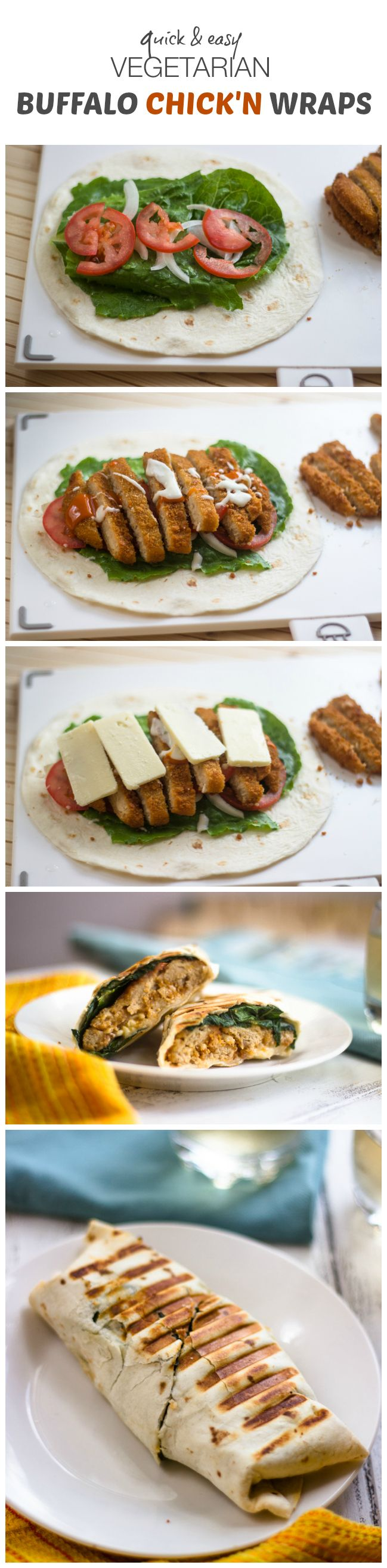 13 best winter recipes images on pinterest vegan recipes quick easy vegetarian buffalo chicken wraps forumfinder Choice Image