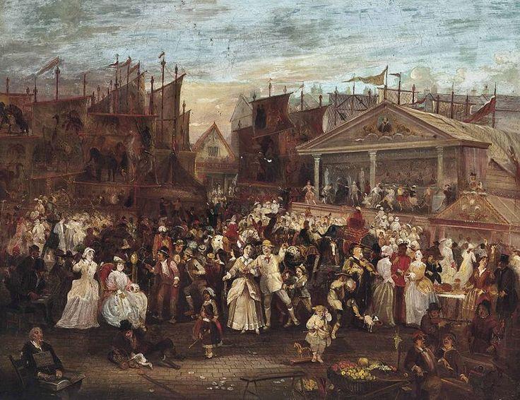 Greenwich Fair, by Augustus Edwin Mulready (1844 - 1904).