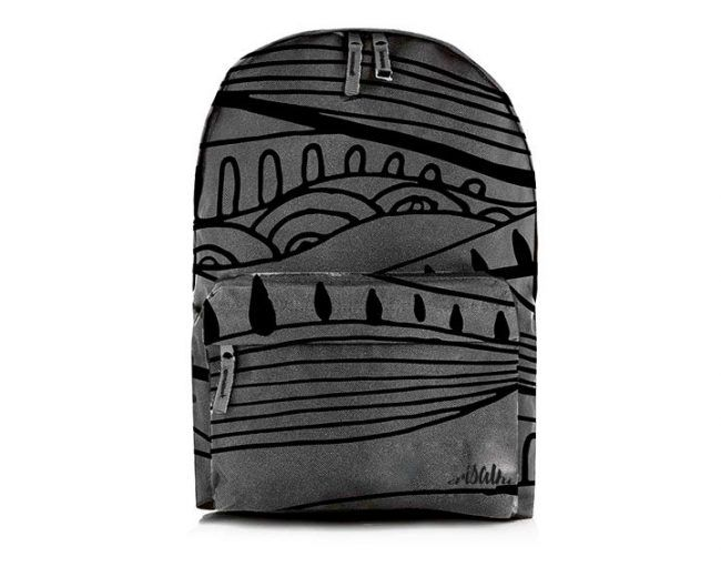 BACKPACK PATTERN GREY