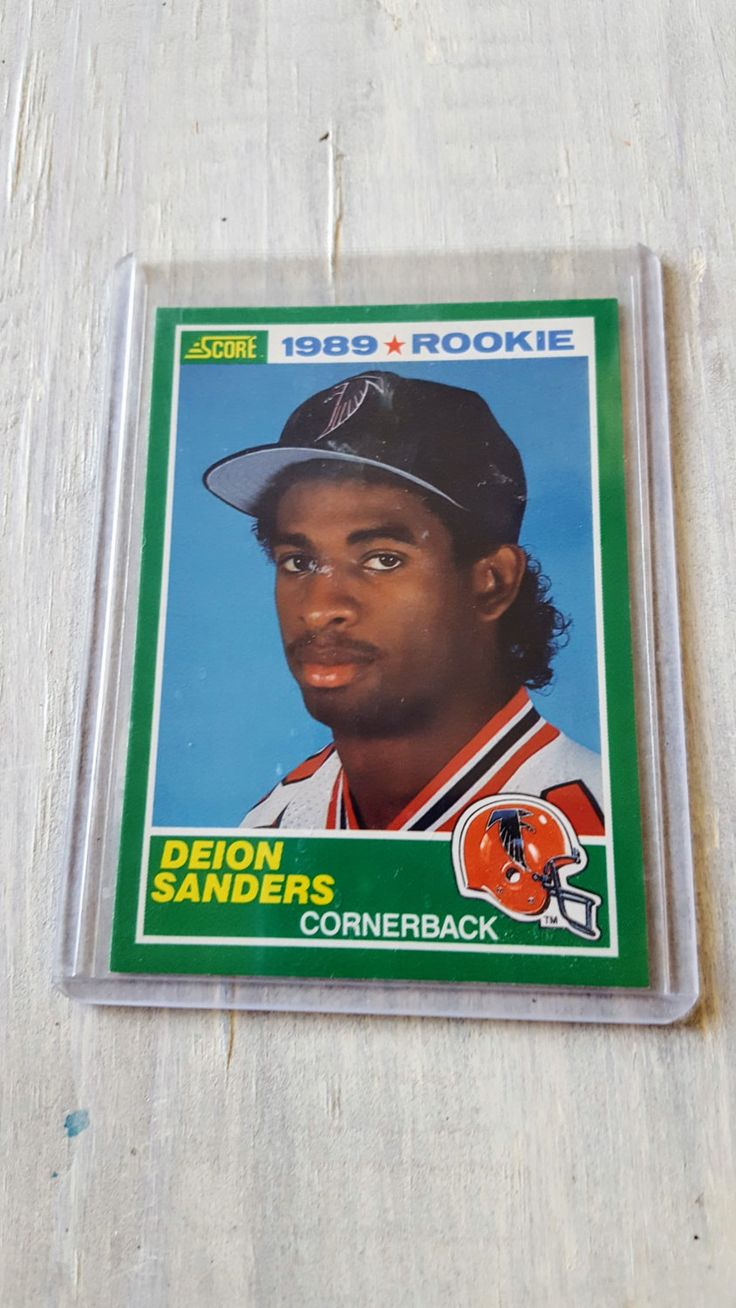 Atlanta Falcons Deion Sanders 1989 Score ROOKIE CARD! True Rookie, Dallas Cowboys, 49ers, Florida State Seminols, Atlanta Braves by BBSportscards on Etsy