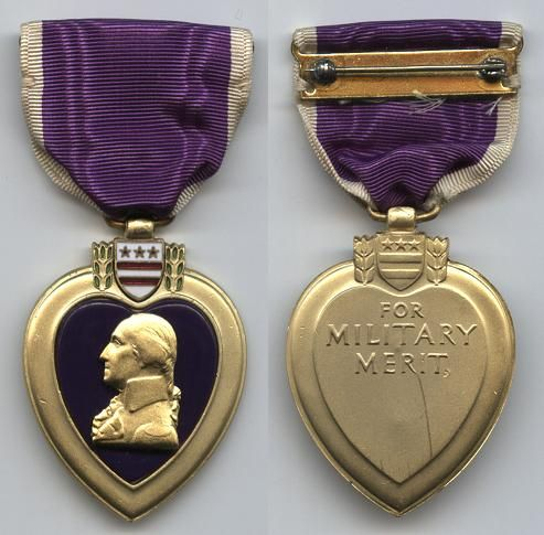 The Purple Heart is a United States military decoration awarded to those who have been wounded or killed while serving in our military.