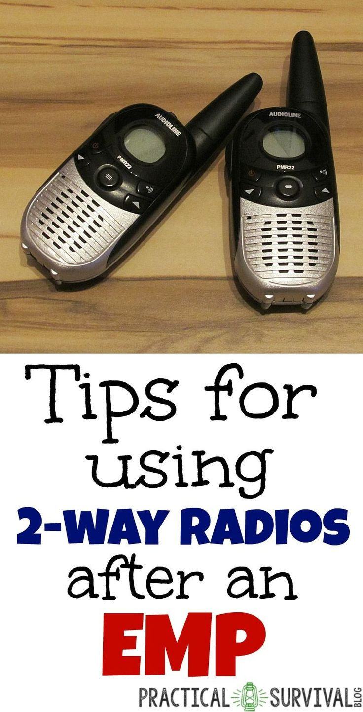 good tips on how to make 2 way radios for communication if an EMP strikes and cell phones are working.