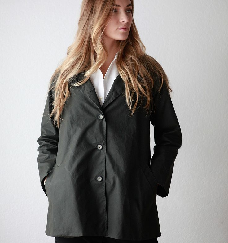 Tracey Raincoat in Deep Olive - The Collections - Dace for Mavenhaus Collective