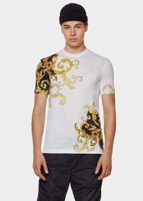 VERSACE Cotton Barocco Print T-shirt. #versace #cloth #cotton barocco print t-shirt