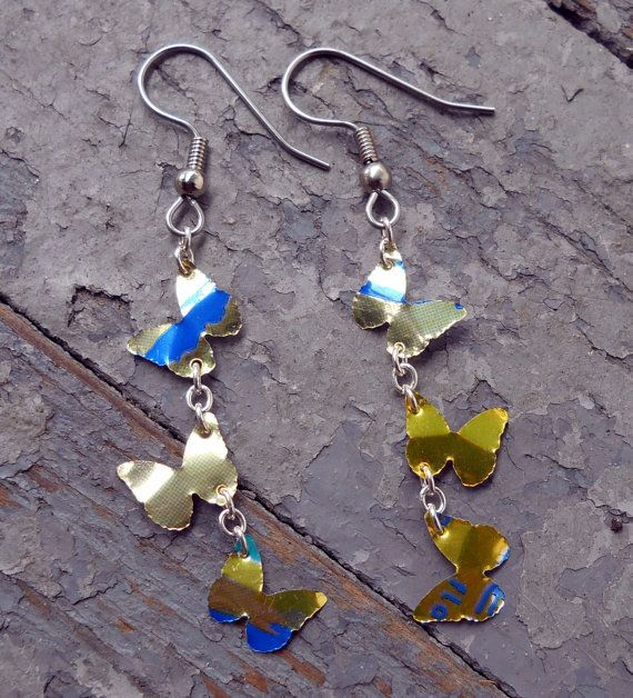 Aluminum Can Crafts - How to Make Soda Can Earrings