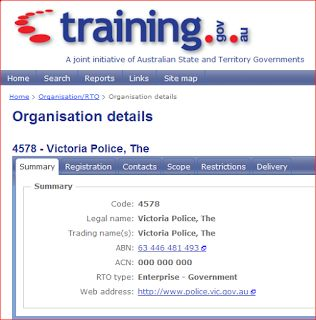 MIKIPEDIA LAW BLOG: DEFINITIVE PROOF THAT VICTORIA POLICE IS A BUSINESS