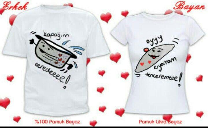 Çiftler için tişört