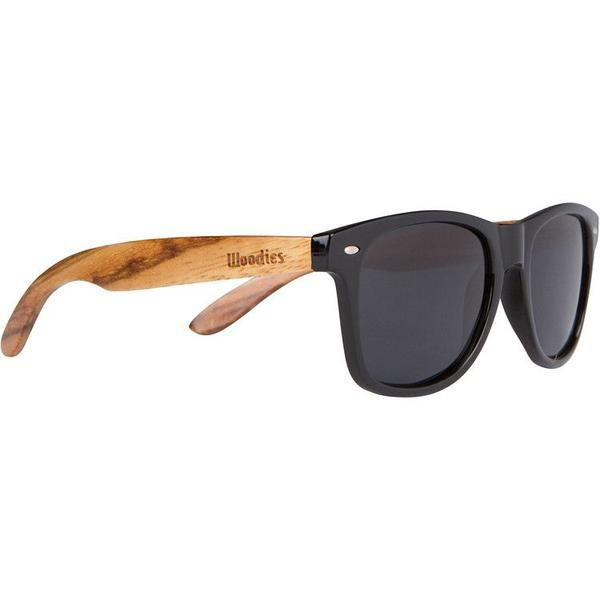 Description Woodies Zebra Wood Sunglasses offer a combination of 100% real zebra wood arms that support a wayfarer style plastic frame. Each pair is completely unique and has its own wood striations.