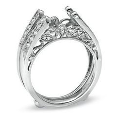 Vintage Style Ring Guards | Details about Diamonds Vintage Cathedral Ring Wrap Guard Solitaire ...