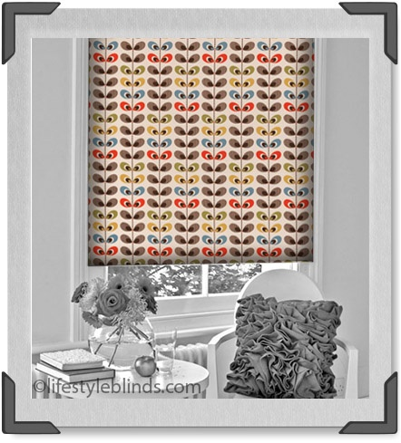 Finally!! Our Arla roller blind inspired by Miss Orla Kiely is here at our shop.  Fantastic prices and quality http://www.lifestyleblinds.com/product.php?productid=3092