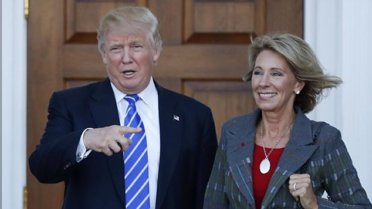 Trump picks Betsy DeVos for education secretary post http://www.detroitnews.com/story/news/politics/2016/11/23/trump-devos-education/94344918/