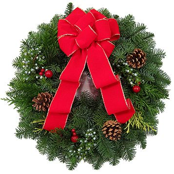 We not only do Christmas trees but wreaths as well
