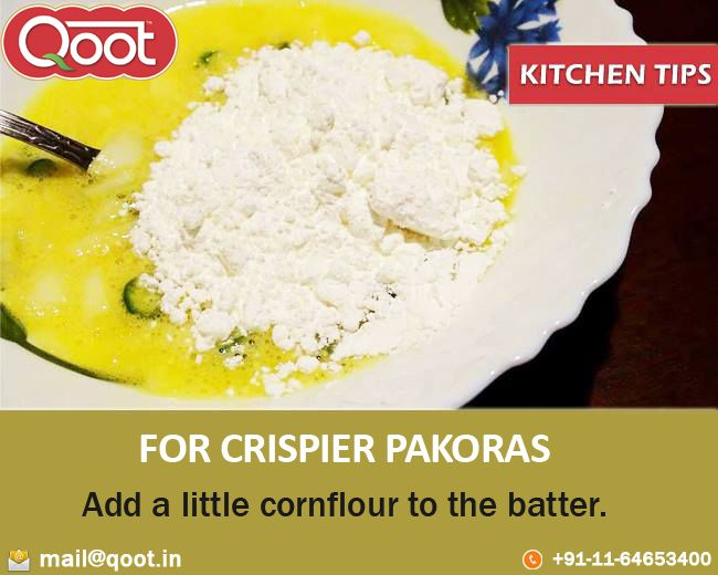 Kitchen Tip  http://www.qoot.in/ #Corn , #Fact , #khakhra , #Pickles, #uraddalpapad , #Papad , #QootMasti