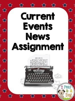Want students to be informed about current events? Try this current events news assignment from 2 Peas and a Dog.This can be used with any non-fiction new article or text. This assignment contains three types of graphic organizers to help students practice reading non-fiction texts for basic information, main idea and significance.