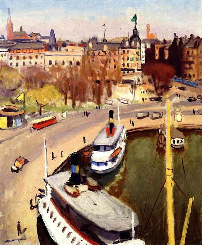 The Port of Stockholm, (1938) by Albert Marquet (French, 1875–1947)