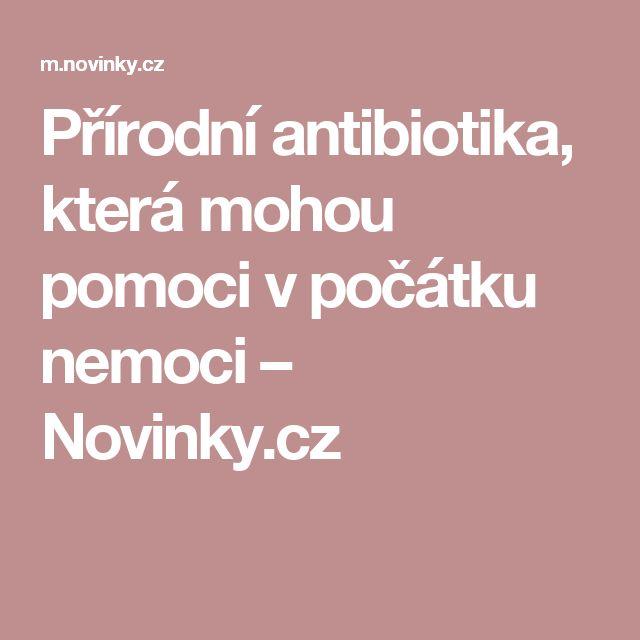Přírodní antibiotika, která mohou pomoci v počátku nemoci– Novinky.cz
