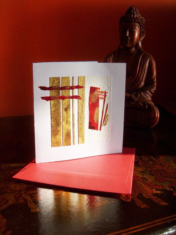 Greeting card   Art   Romance  hand made by TheGoldenTrees on Etsy, €16.50