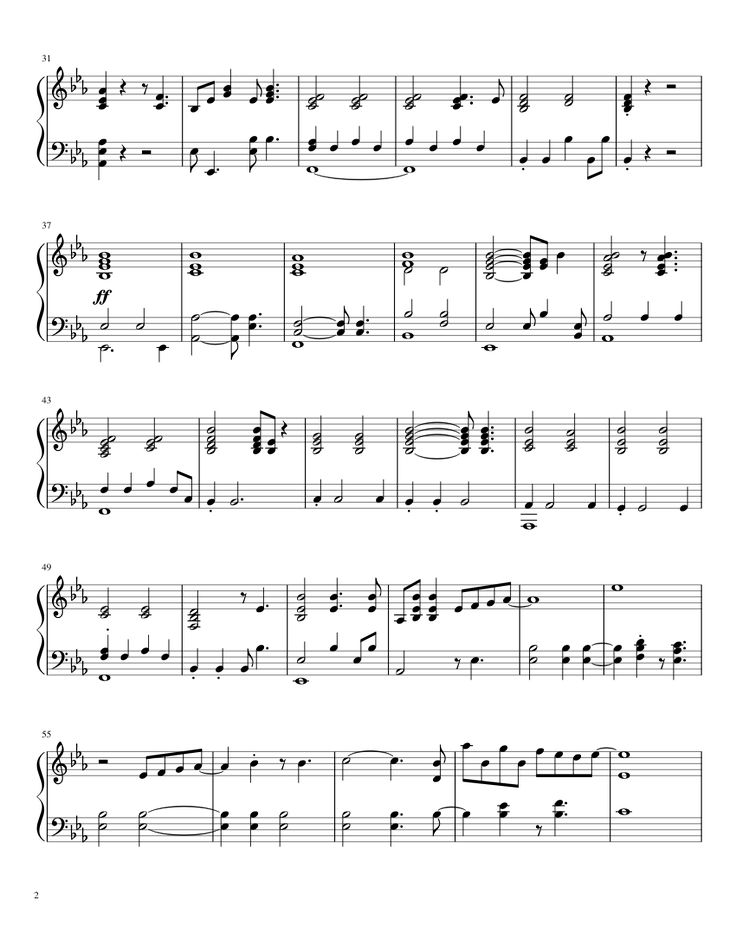 Sheet music made by trumpetdude315 for Piano