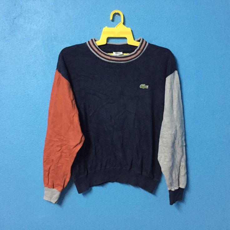 Rare!!vintage 90s lacoste sweatshirt multicolour by jettvillastore on Etsy https://www.etsy.com/listing/498481952/rarevintage-90s-lacoste-sweatshirt