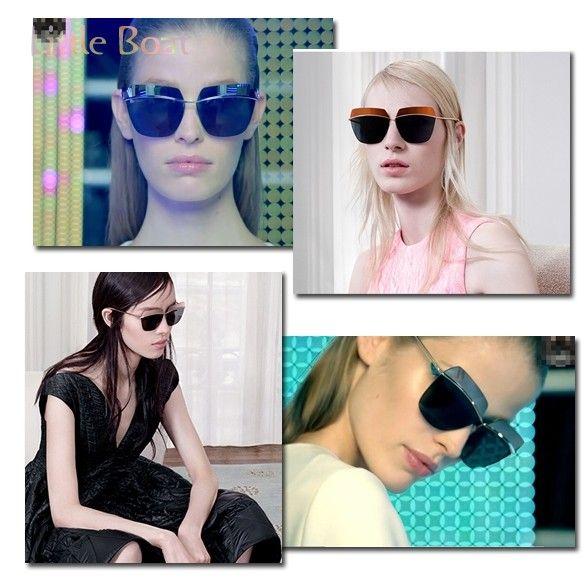 awesome Vintage Style Large Frameless Anti-UV Sunglasses Polarized Sunglasses Driving Glasses Classic Sunglasses Women 50
