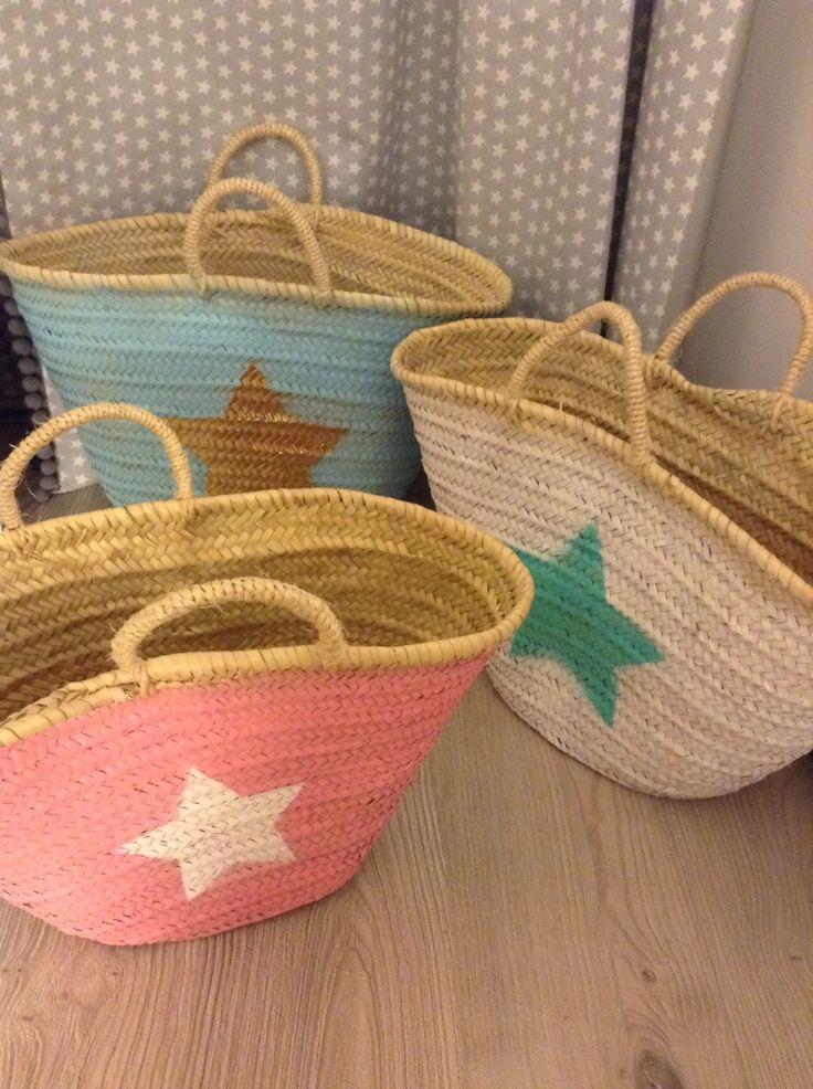 handmade straw beach bags