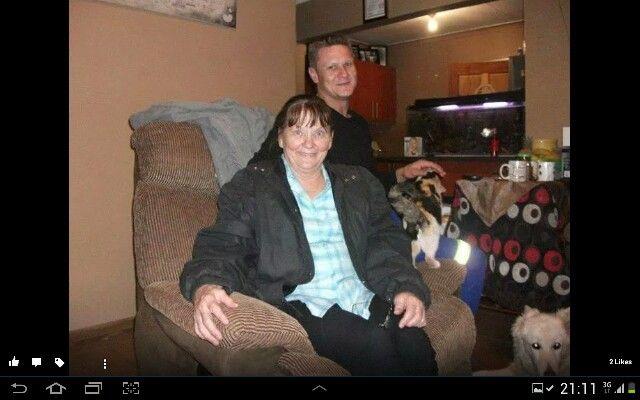 My mama and my darling hubster