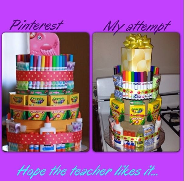 Teacher Supply Cake
