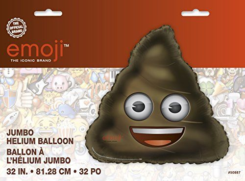 Add a heavy load of humor to any special occasion with this Giant Foil Poop Emoji Balloon. Shaped just like the poop emoticon we all love to text, this giant helium balloon is sure to make a statement at a kids birthday party, teen party, or Emoji themed party. Tie it to the back of …