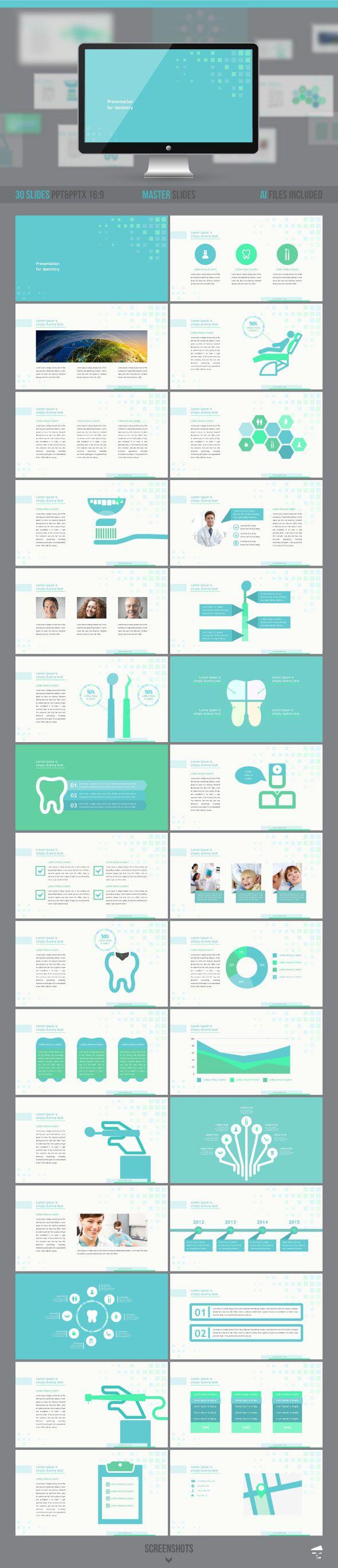 Dental Presentation Template #powerpoint #powerpointtemplate #presentation Download: http://graphicriver.net/item/dental-presentation/9709360?ref=ksioks