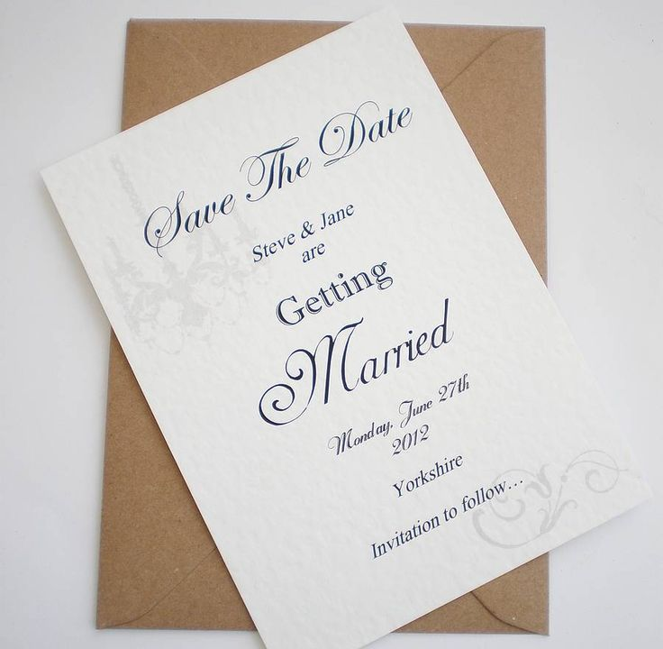Handmade Save The Date Card 22 best