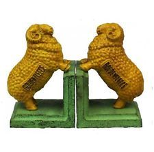 Cast Iron Golden Fleece Ram Bookends Sheep Automotive Vintage Retro