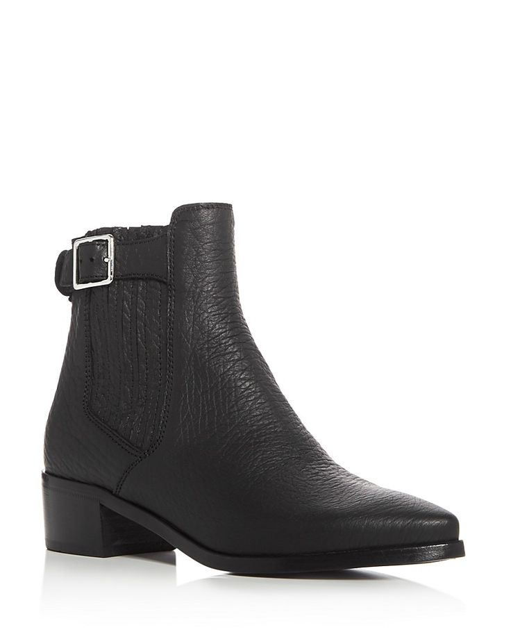 495.00$  Watch now - http://vicqf.justgood.pw/vig/item.php?t=o4eyc9250218 - Belstaff Albaz Pointed Toe Mid Heel Booties 495.00$