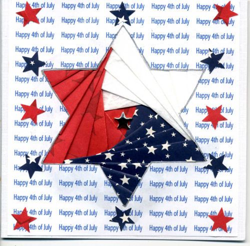 iris folding for a 4th of July star...