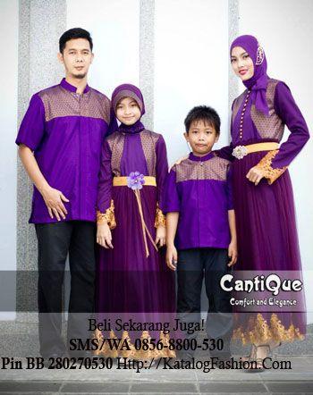 KatalogFashion.com | Koleksi Sarimbit Mewah Keluarga Cantique CQ 1409 UNGU | http://katalogfashion.com