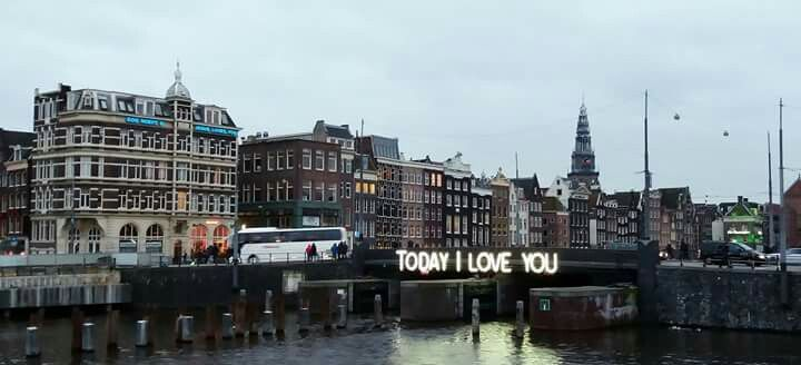 The Magical words. View outside Amsterdam Central station. The beautiful canal city that will broaden your spirit. :-) You can check in afvance for Pension Homeland for your stay.