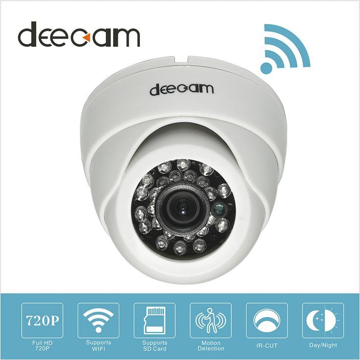 Deecam Wireless IP Camera Dome Wifi HD 720p SD Card Home Network Security Camera System Surveillance Wi-fi Camaras De Seguridad