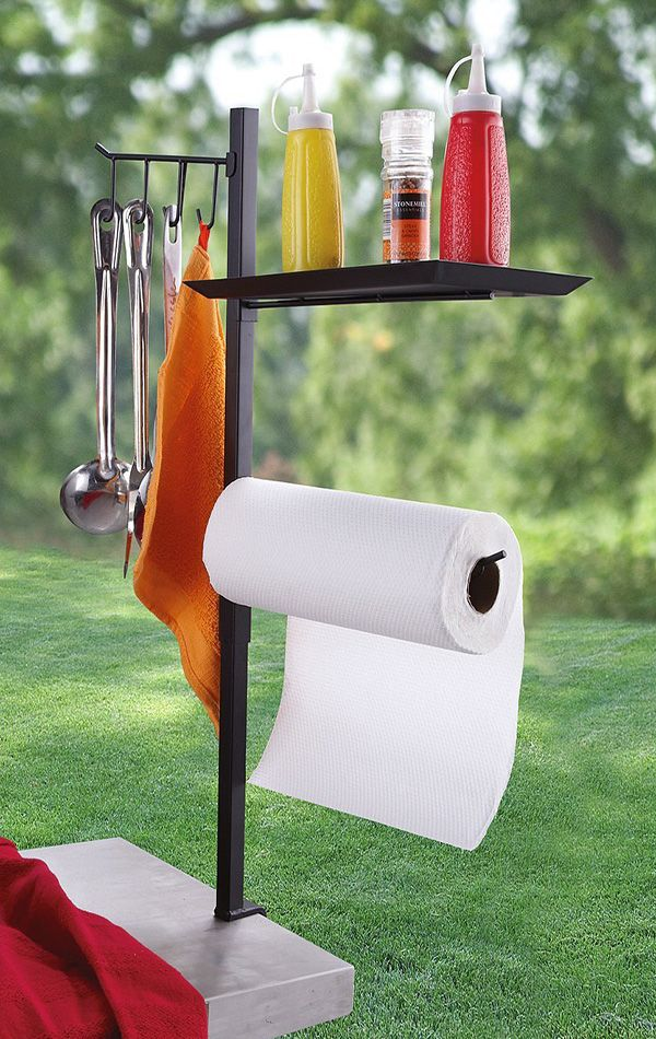 Grilling like a pro means having everything at hand.  The BBQ Accessory Organizer.