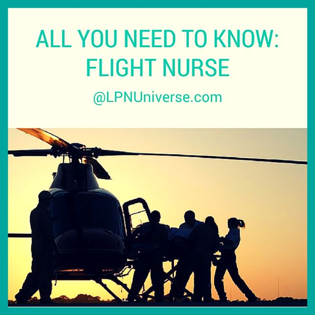 If you are more the adventurous type and you want to work as a #nurse in an aerial setting, this career might be the one for you.