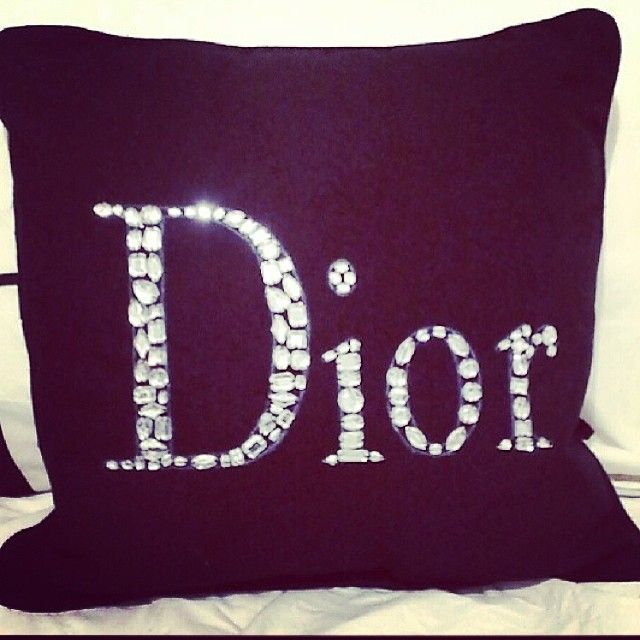 Embellished Dior Pillow.