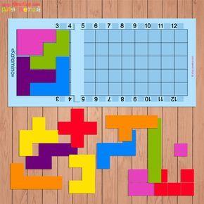 Настольная игра Катамино (Katamino) своими руками, шаблоны Катамино скачать для печати