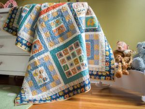 Baby Jungle Panel Baby Quilt Kit