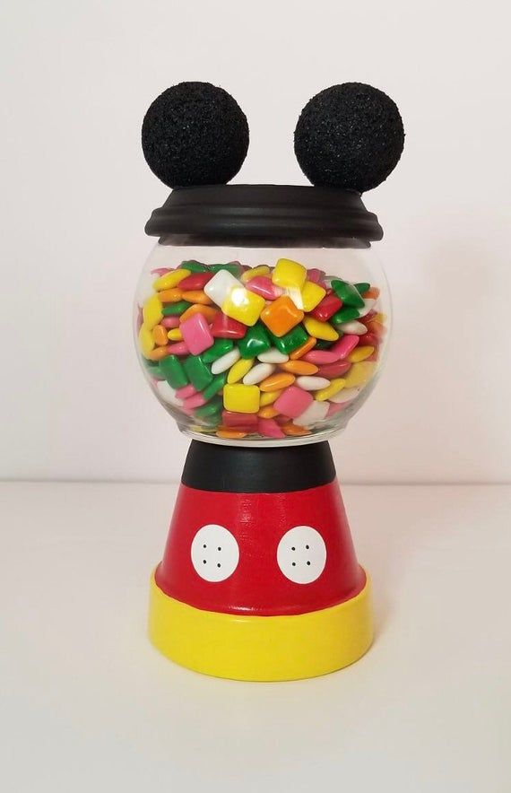 Mickey Mouse Centerpiece Candy Jar Party Decoration Birthday