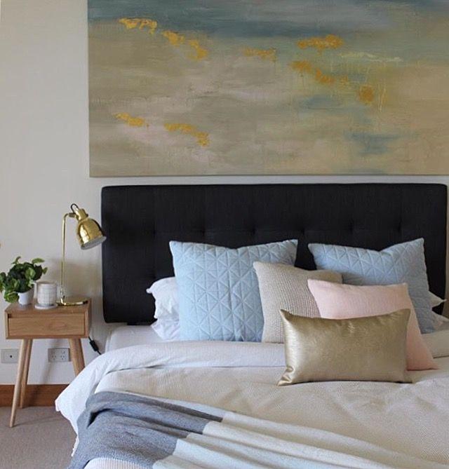 Master bedroom styled by Instyle Design Co   Art by Francesca Gnagnarella @fragnagna_art