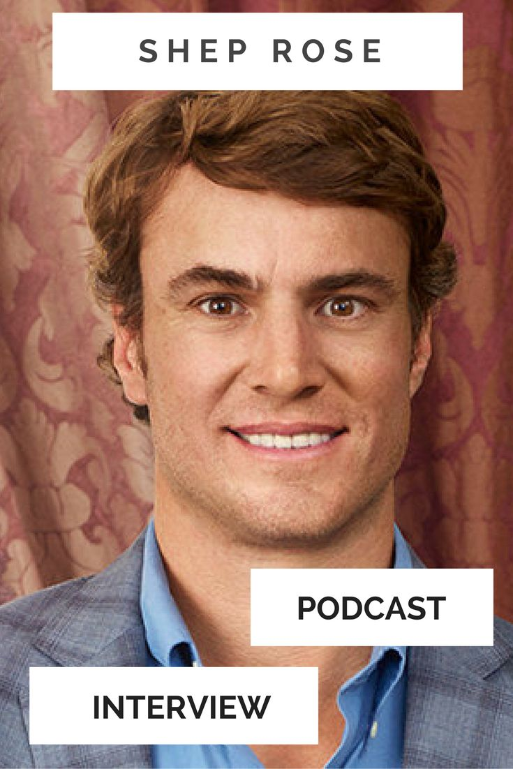My interview with Shep Rose from Southern Charm about life before Bravo, how his life has changed because of the show, and his three favorite books.